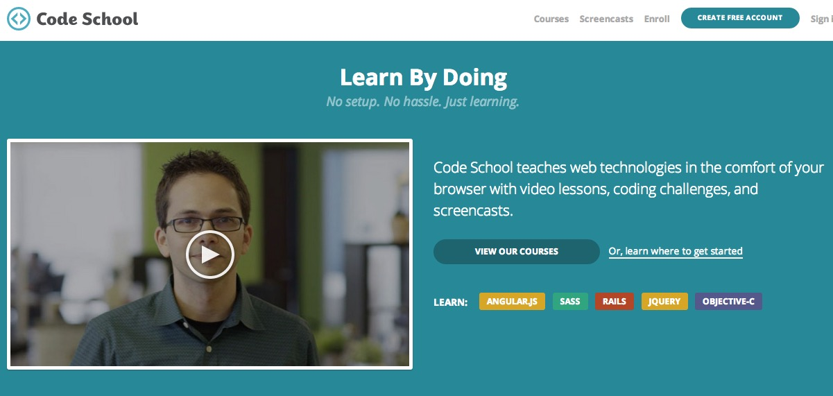 Codeschool Website UVP