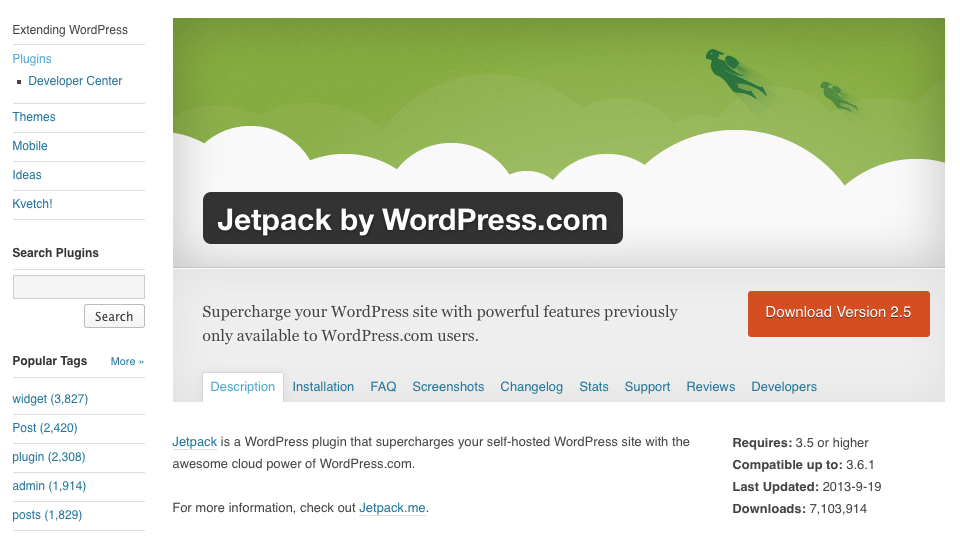 A Wordpress Plugin Page