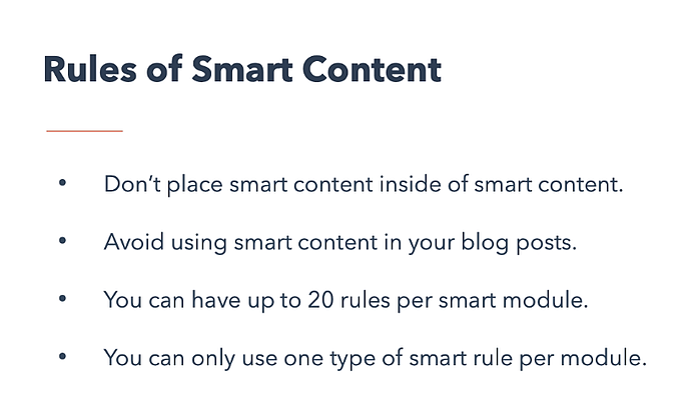 hubspot cms hub smart content