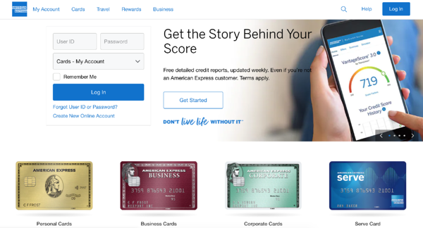AmexOne_website branding