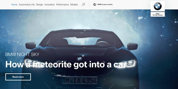 BMWOne_website branding