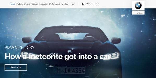 BMWOne_website branding