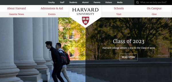 HarvardOne_website branding