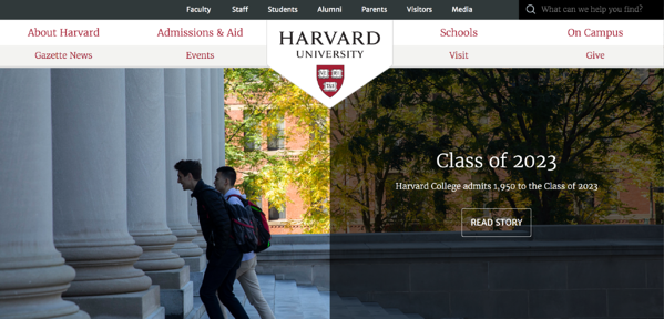 HarvardOne_website branding