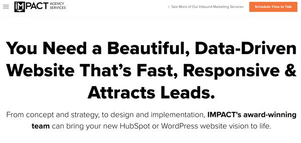 best web design firm IMPACT