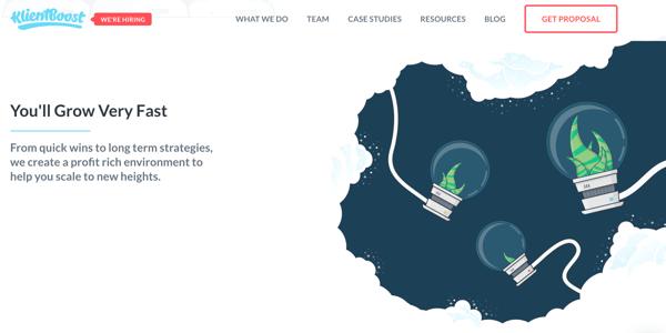 Klientboost_branding and website design