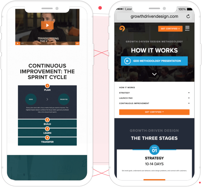 HubSpot website on mobile