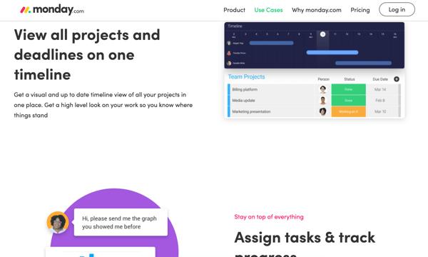 Monday.com_branding and website design