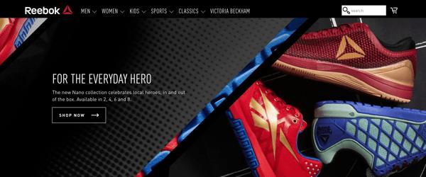 Reebok_branding and website design
