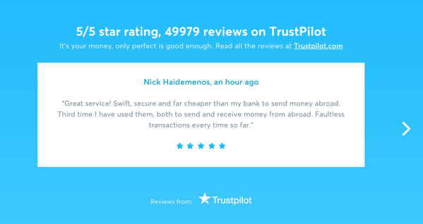 Awesome Landing Page Reviews Example