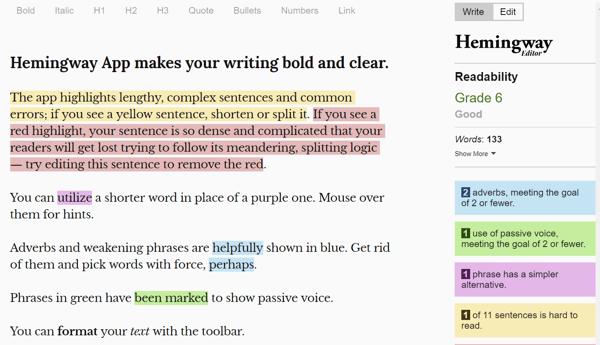 Create-Content-Faster-Hemingway-App