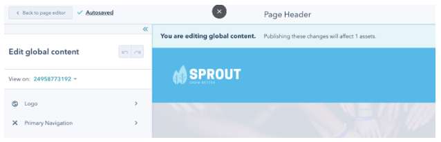 global content cms for marketers