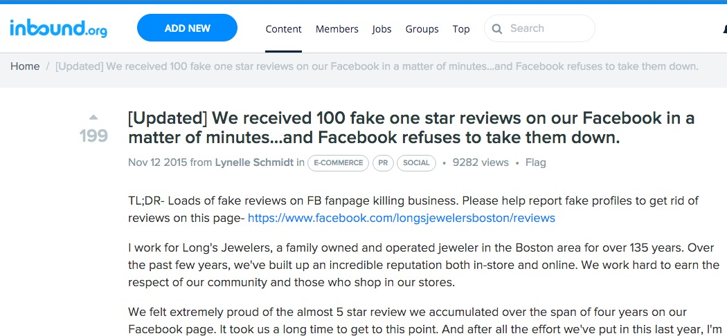 Fake Facebook Likes Article
