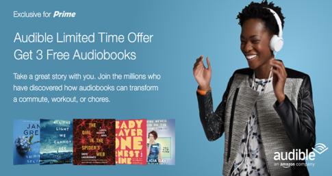 Audible Three Free Audio Books