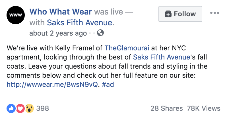Who What Wear and Kelly Framel Collaboration