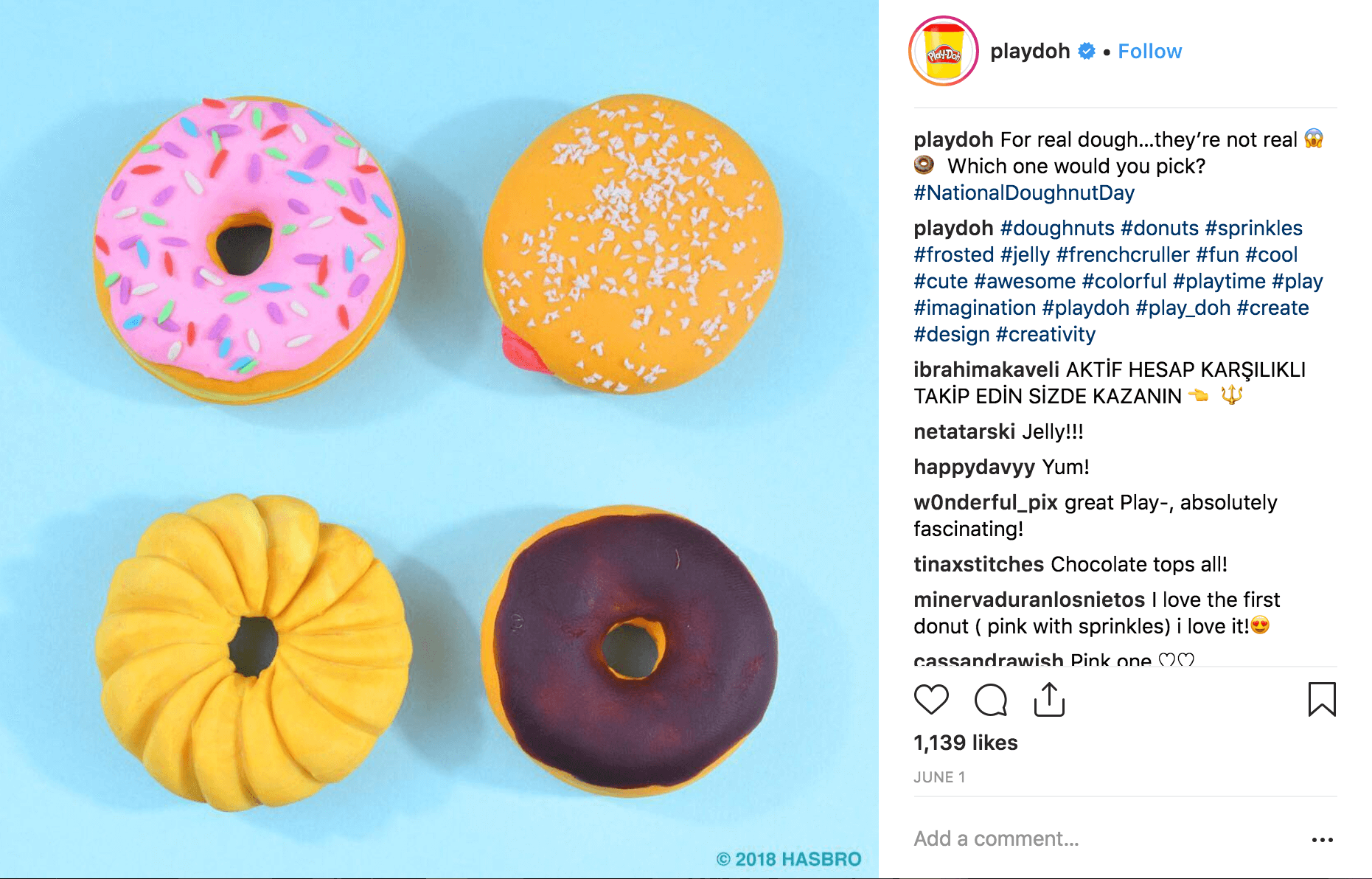 Play Doh on National Doughnut Day
