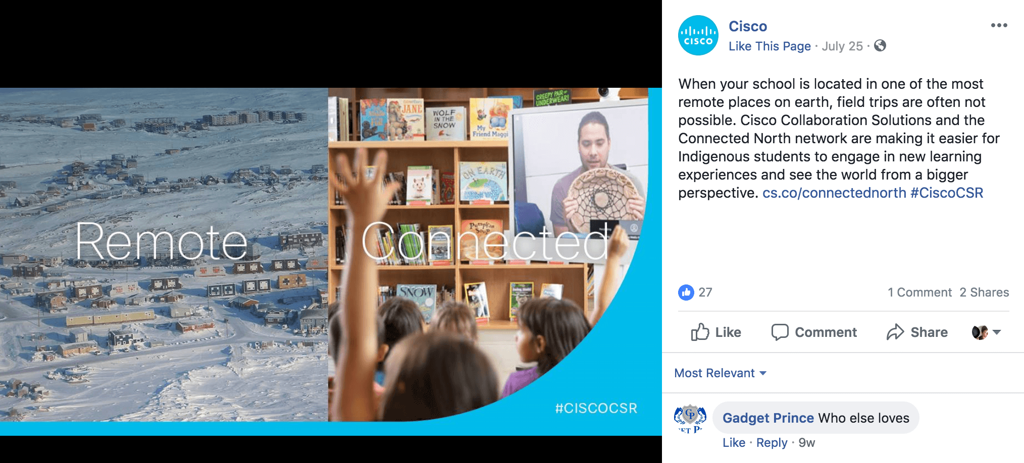 Cisco Facebook Content