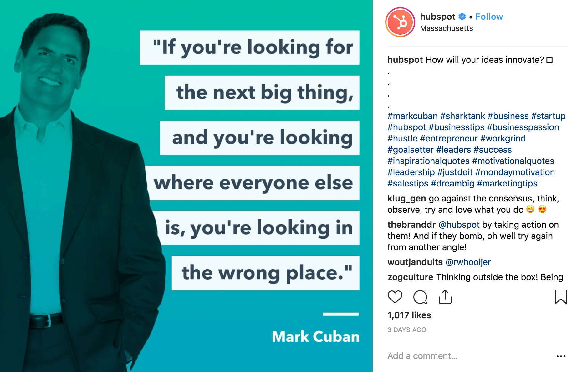 HubSpot Mark Cuban Quote