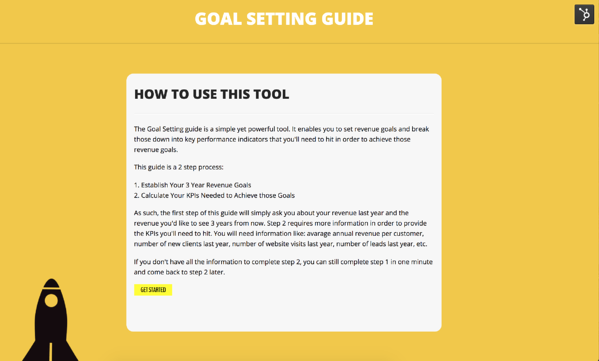 Goal Setting For Website Performance