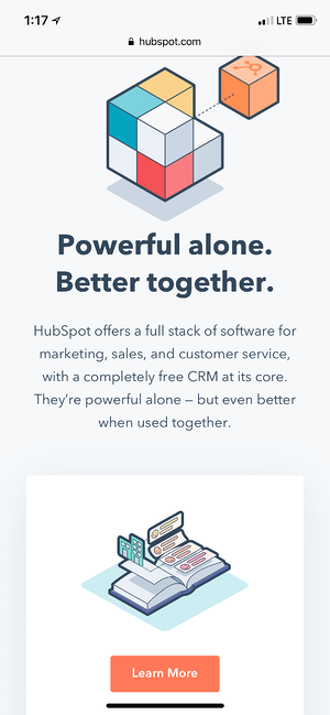 Great Mobile Landing Page Examples