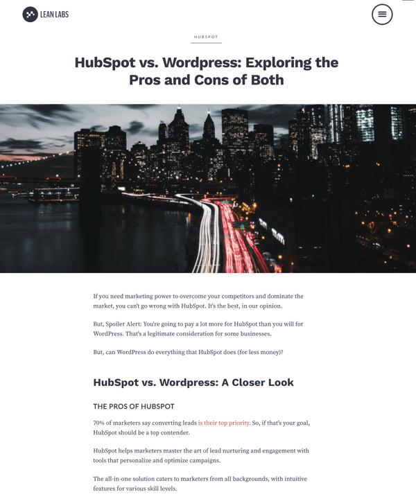 hubspotvswordpress
