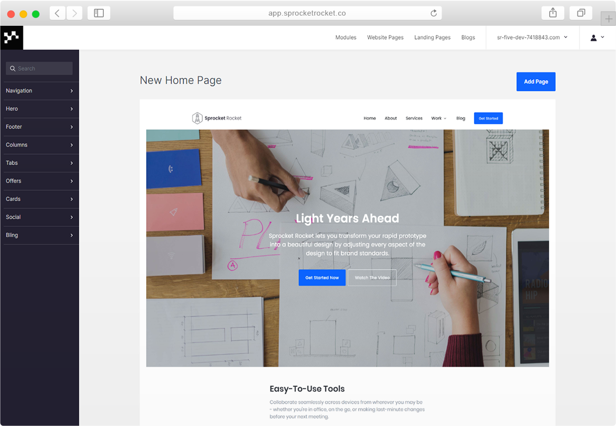 create-page-step-2